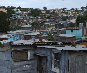 Shacks in South African Township of Duncan Village